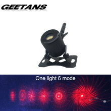 GEETANS Anti Collision Rear-end Car Laser Tail Fog Light Auto Brake Parking Lamp Rearing Warning Project one light 6 mode BJ
