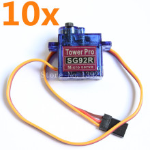 10pcs/lot TowerPro SG92R Digital Micro 9g Servo With Nylon Carbon fiber Gears For RC Model Helicopter Parts
