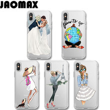 Jaomax Fashion Sexy Beach Travel Girl Phone Case For Iphone 8 7 6 6S PLUS X Silicone Transparent Soft TPU Ultra Slim Cover Capa(China)