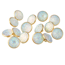 50PCs Copper Metal Buttons Gold Plated AB Color Round Shank Buttons Clothes Sewing Accessories Scrapbooking Accessories 12.5mm(China)