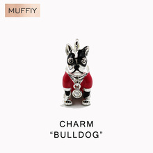 Pink French Bulldog Charm,Thomas Style Charm Club Good Jewerly For Women,2017 Ts Gift In 925 Sterling Silver,Super Deals,Fit Bag