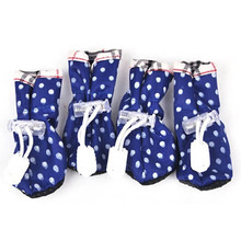 Dog Pet Lovely Cat Puppy Shoes Anti-slip Waterproof Protective Special Boots Shoes 4 PCS