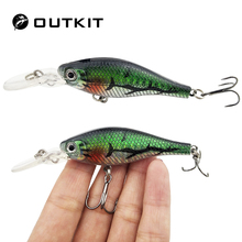 OUTKIT 1Pcs 6.8g 8.5cm Laser Wobblers Fishing Tackle 3D Eyes Sinking Minnow Fishing Lure Crankbait(China)