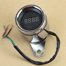 Brand New  Universal Motorcycle Red LED Light Digital Tachometer Tacho Gauge RPM