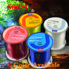DAIWA Brand Best Quality 500M Monofilament Nylon Fishing Line 4 Color Available Super Strong Lure Line Material WIRE WHEEL 516(China)