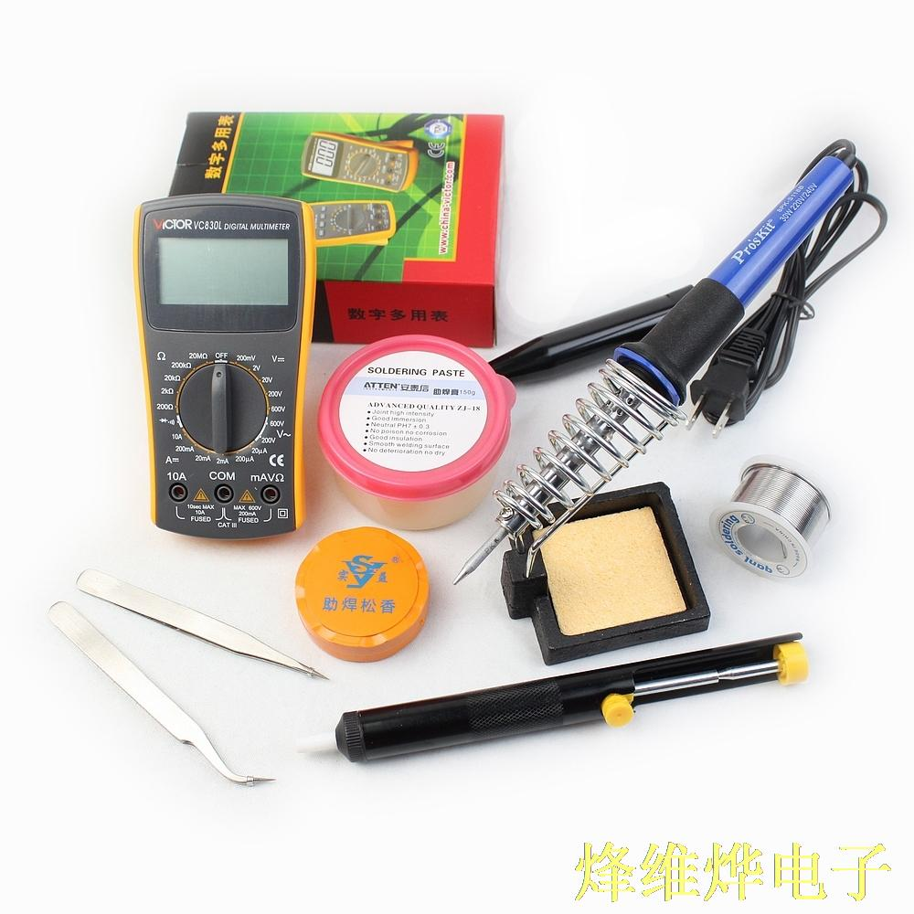 Welding repair tools multimeter electric iron iron frame Tweezer flux and other 10 sets<br><br>Aliexpress