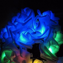 Rose Solar LED String Lights Romantic Garden 100Leds 12M Outdoor Christmas Holiday Festival Party Garden Decoration Solar Lamps(China)
