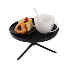 Vehemo Useful 1Pieces Travel Food Drink Cup Coffee Table Stand Auto Car Portble Stand Food Tray Mount Holder with Tripod(China)
