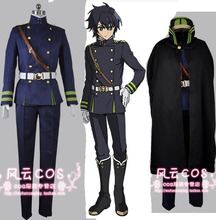 Seraph of the End Yuichiro Hyakuya Guren Ichinose Uniform Outfit  Jacket Pants belt hat Cloak set