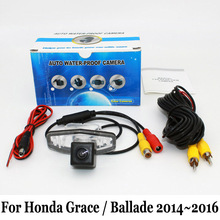 For Honda Grace / Ballade GM6 2014~2016 / RCA AUX Wire Or Wireless Backup Camera / HD Wide Lens Angle CCD Rear View Camera