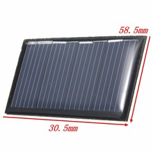 Universal 2V 0.18W 90mAh Polycrystalline Silicon Epoxy Solar Panels DIY Solar Module  for Charging Cellphones DC Battery Charger