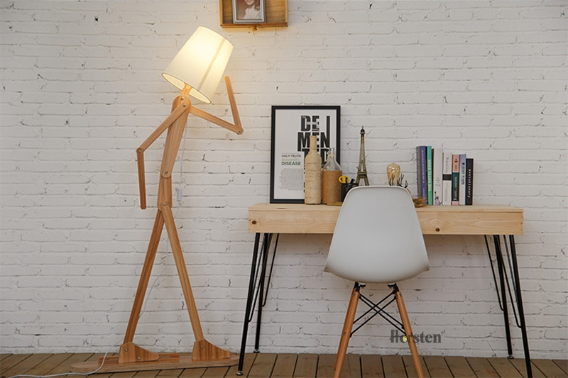 Japanese Style Creative DIY Wooden Floor Lamps Nordic Wood Fabric Stand Light For Living Room Bedroom Study Art Deco Lighting E27 (7)