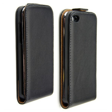 New Black Magnetic clasp Pouch Cell Phone Holster Vertical Flip Leather Back Cover Case For Apple iPhone 5 5S 5G(China)