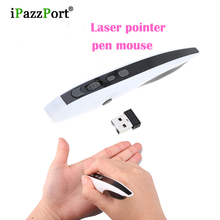 High quality Mini 2.4GHz Wireless Optical Pen Mouse USB Adjustable 500/1000DPI Laser Pointer fly Air Mouse for PC Android tv box