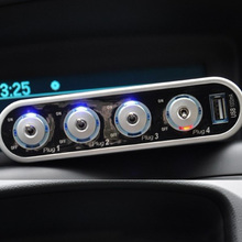 3-Way Triple Led Car Cigarette Lighter Socket Splitter Charger Power Adapter + 1 USB Allume Cigarette Voiture Car Styling(China)