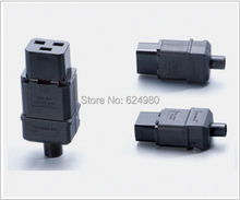 Universal 250V 16A Standard IEC320 C19 AC Electrical Power Cable Cord Connector PDU Removable socket plug(China)