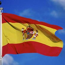 Spain Flag 3x5Ft Super Poly football FLAG Indoor Outdoor Polyester Pennants(China)