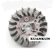 XUANKUN  49CC Mini Motorcycle Accessories Small Sports Car Small Off-Road 2 Red Engine Fan Blades Heat Sink Flywheel