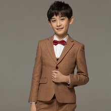 Brand Boy Clothes68%Wool kids baby boy formal wedding suits set toddler boy prom suits single breasted boy dress suit tuxedo(China)