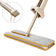 Double Sided Flat Lazy Mop 360 Degrees Cleaning Mop Self-Wringing Flipping with 2pcs Microfiber Replace Cloth(China)