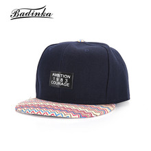 Badinka 2017 New Print Ambition 1983 Courage Gorra Plana Snapback Caps Women Men Adjustable Hip Hop Peaked Baseball Caps Hats(China)
