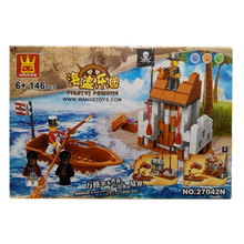 Pirate Series 146PCS Building Blocks Pirates Paradise Model Assembly DIY Gifts For Children Bricks Compatible With lepin Wange