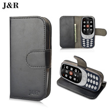 For Nokia 3310 2017 Case Wallet Stand Card Holder Leather Case For Nokia TA-1030 Dual SIM Phone Bag&cases J&R(China)