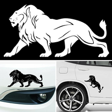 The Lion Car Stickers SUPER LARGE 20CM*10CM Black White Reflective Car Styling Covers Accessories(China)