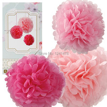 16inch=40cm 5pcs/lot Party Decorations Tissue Paper Pompom Flowers Balls Decorations for Birthday Marriage Baby Shower Decor(China)