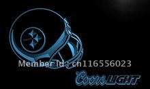 LD474- Pittsburgh Steelers Helmet Coors LED Neon Light Sign(China)