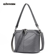 Buy GLOWWORM Brand Genuine Leather Women Messenger Bag High Cow Leather Small Crossbody Shell Bag Women Fashion Shoulder Bag for $19.80 in AliExpress store