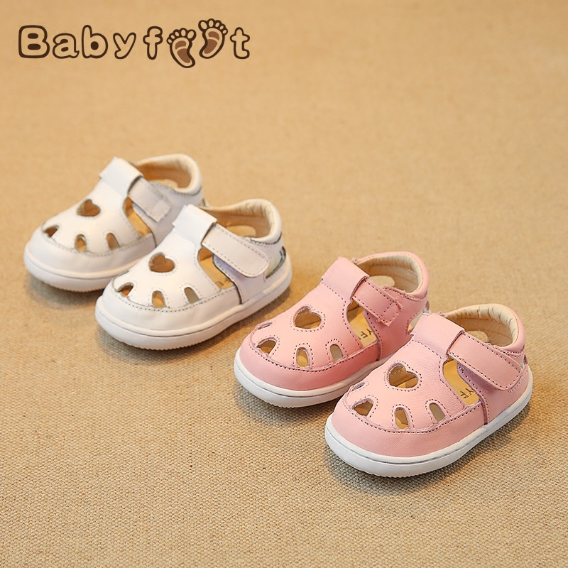 Babyfeet toddler shoes 0-2 year old Newborn baby Girl &amp; boy children sandals Solid Hollow Genuine leather infant infantile shoes<br>