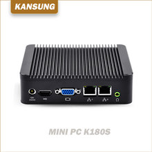 New Thin Client Pfsense J1800 Linux 2Ethernet Lan Barebone System Desktop Computer Ubuntu12V Mini PC Industrial X86 Win10 Server(China)