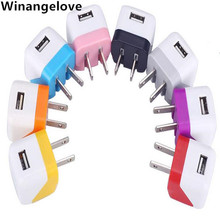 Winangelove 100pcs/lot US Mini Folding USB AC Power Adapter Wall Charger For iPhone 7 6 5 5S 5C 4 4S 3G for Samsung s7 s6