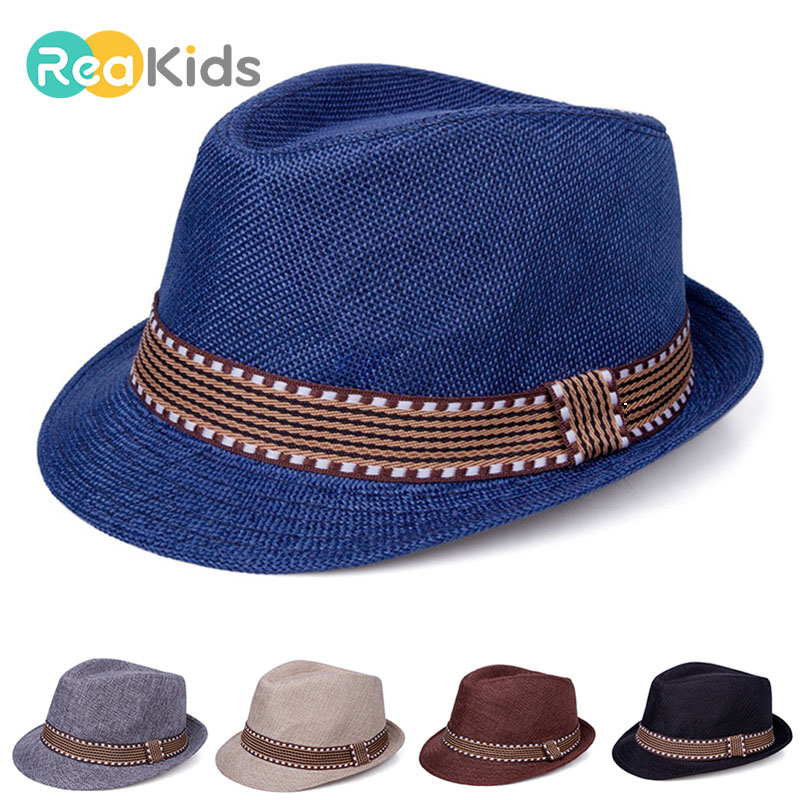 REAKIDS Baby Hat For Boys Children Cap Girls Summer Hat Toddler Infant Sun Cap Outdoor Baby Girls/Boys Hat Jazz Cap For Baby(China)