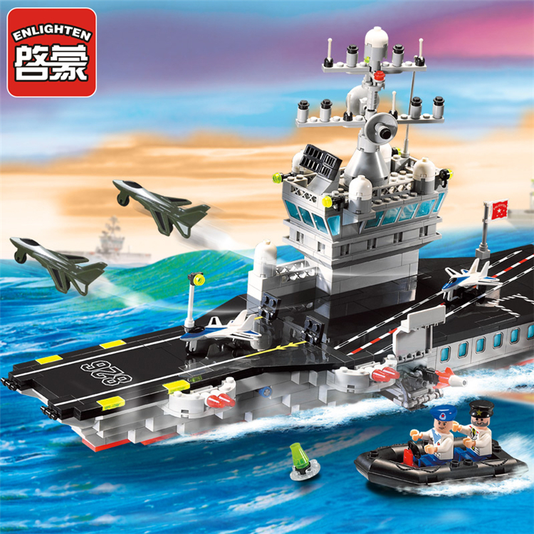 508pcs Enlighten Military Carrier Building Blocks Bricks Gifts Compatible Legoe Figures Toys<br><br>Aliexpress
