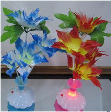 Wholesale 2PCS  Fiber Optical LED Flower Light night light Lamp Decorative Home from China for US,BR,RU Free Shipment