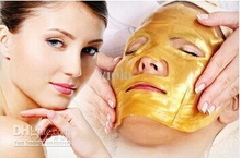 Free shipping Gold Mask 5 pairs/lot New arrive Gold Crystal collagen facial Mask Hotsale face mask face care product(China)