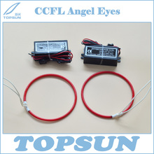 Super Bright Red CCFL Angel Eyes and Driver for projector lens, cold cathode fluorescent lamp as DRL