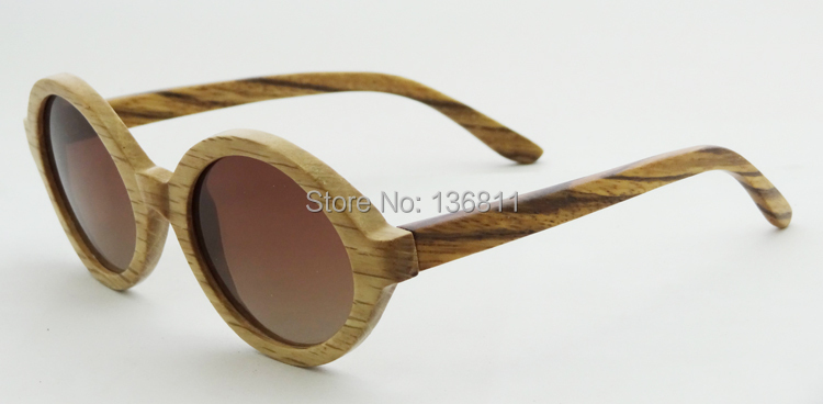 100% Handmade Wood Sunglasses Full Polarized Sunglasses Wooden Frame Sunglasses With Gradient Brown Lens 6019<br><br>Aliexpress