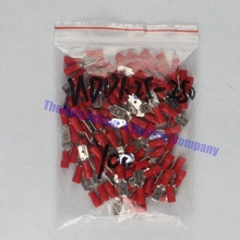 MDD1.25-250 male Insulated Spade Quick Connector Terminals Crimp Terminal AWG MDD1-250 100PCS/Pack MDD