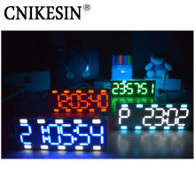 CNIKESIN DIY 6 Digit LED Large Screen Two-Color Digital Tube Desktop Clock Kit Touch Control(China)