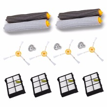 2 Debris Extractor brush +4 HEPA Filter +4 SideBrush Kit For iRobot Roomba 800 870 880 980 vacuum cleaner Accessories parts New