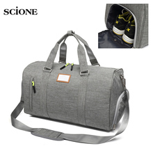 Fitness Gym Bag for Women Men Outdoor Sports Bags with Shoes Storage Handbag Shoulder Crossbody Bags Travel Duffle Bolsa XA571YL