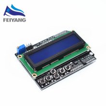 Free Shipping LCD Keypad Shield LCD1602 LCD 1602 Module Display for arduino ATMEGA328 ATMEGA2560 raspberry pi UNO blue screen