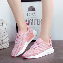 Sneakers Women Running Shoes Outdoor Antiskid Jogging Tourism Walking Cozy Sports Athletic Shoes Free Shipping Black White Pink(China)