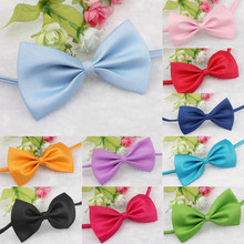 9 Candy colors Fashion Cute Dog Puppy Cat Kitten Pet Toy Kid Bow Tie Necktie Clothes adjustable free shipping(China)