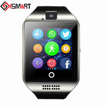 ISMART Bluetooth Smart Watch Q18 Watch Camera Facebooks Twitter Smartwatch Support Sim TF Card For Apple ios Android Phone