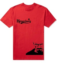 Stylish Cool Heisenberg T Shirt Summer Style Breaking Bad t-shirts for Men Custom Design Logo Black Tee shirts