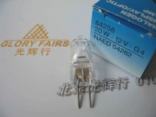 OSRAM 64258 12V 20W bulb,NAED 54262,Chemistry analyzer 340nm-700nm,Analytic 12V 20W G4 UV tungsten halogen lamp,64258-C